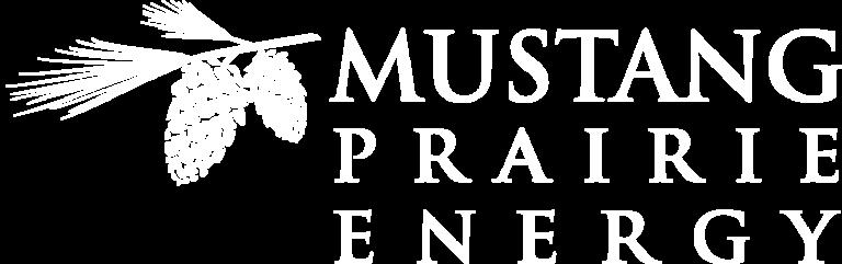 Mustang Priarie logo - white